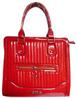 Patent Faux Leather Top Handle Shoulder Bag Tote Quilted Fashion Handbag Womens