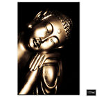 Religion Budda Relaxed Golden  BOX FRAMED CANVAS ART Picture HDR 280gsm