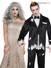 Ladies Mens Corpse Bride Zombie Groom Halloween Fancy Dress Costume Couples