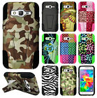 For Samsung Galaxy Prevail LTE HYBRID KICK STAND Rubber Case Cover Accessory