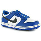NIKE DUNK NG JUNIOR GOLF SHOES - WHITE / BLUE - NEW KIDS LEATHER WATERPROOF BOYS
