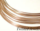1Ft 14K Rose Gold-Filled DS SQUARE Jewelry Wire 16 18 20 21 22 24 GA Gauge