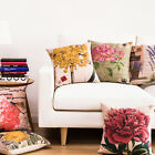 "Colorful Beautiful Flowers Throw Pillow Case Cushion Cover Square 18"" Home Decor"