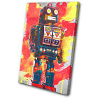 For Kids Room Robot Abstract Vintage  CANVAS WALL ART Picture Print VA