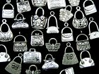 Tibetan Silver Random Mixed Handbag Charms Pendants Fashion Bags Jewellery ML
