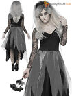 Size 8-22 Ladies Sexy Zombie Corpse Bride Womens Halloween Fancy Dress Costume