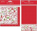Christmas Xmas Party Table Ware Napkins Table Cover Cloth Contemporary Design