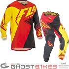 Fly Racing 2016 Youth Kinetic Vector Red Black Yellow Motocross Kit MX Junior