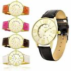 Womens Fashion Faux Leather Band Quartz Analog Dress Bracelet Wrist Watch New