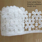 Vintage Polyester Cotton Lace Trim Embroidered Applique DIY Fabric Ribbon Sewing