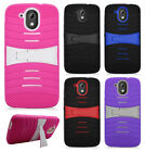 For HTC Desire 526 Hard Gel Rubber KICKSTAND Skin Case Protector Phone Cover