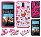 For HTC Desire 526 HARD Hybrid Rubber Silicone Case Phone Cover Accessory
