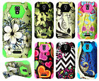 For Alcatel OneTouch Elevate Turbo Layer HYBRID KICKSTAND Rubber Case Cover