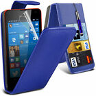 6 Colours Leather Flip Mobile Phone Case Cover For Microsoft Lumia 550