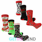 Mens Xmas Novelty Cartoon Socks Christmas Stocking Filler Funny Socks Multipack