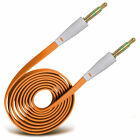 Gold Plated Jack To Jack Flat Aux Audio Cable For LG Nexus 4