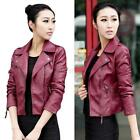 New Women Leather Jacket Female Slim Motorcycle PU Leather Outwear Jacket XXXL