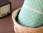 Ombre green Ready quilted Fabric Plain Cotton Pre-quilted / padded (fQ056)