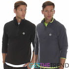 Mens Half Zip Up Fleece Top Mens Fitness Running Funnel Neck Long Sleeve Top