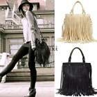 Womens Punk Tassel Fringe Lady handbag Messenger Punk Shoulder Cross Body Bag TX