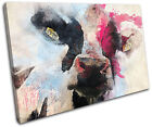Cow Painting Colourful Abstract  Animals CANVAS WALL ART Picture Print VA