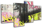 New York Graffiti  Abstract CANVAS WALL ART Picture Print VA