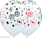 Casino Balloons Cards and Dice Latex Vegas Poker James Bond Party Decorations $17.63 USD on eBay
