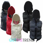 WOMENS SLEEVELESS PADDED JACKET LADIES WINTER HOODED BUBBLE GILET COAT 8-16 UK