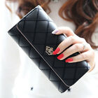 Fashion Women Clutch Long Purse Leather Billfold Wallet Card Holder Handbags US
