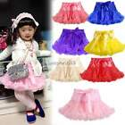 Cute Girl's Flower Tutu Toddler Princess Fluffy Pettiskirt Skirt Party Dancewear