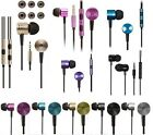 NEW ALL COLOURS PISTON EARBUDS MIC REMOTE UNIVERSAL EAR STEREO 3.5MM HEADPHONE