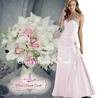 CHELSEA Pale PinkTaffeta Beaded Maxi Bridesmaid Ballgown Prom Dress UK 6 -18