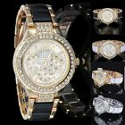 Womens Rhinestone Crystal Ladies Luxury Diamond Women Dress Quartz Wristwatch