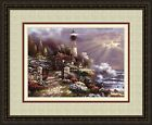 'COASTAL SPLENDOR' Coast Lighthouse Triple Mat art FRAMED PRINT- James Lee 22x26