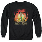 Betty Boop Cartoon Comic Icon Retro Hawaii Hula Boop Adult Crewneck Sweatshirt $35.95 USD