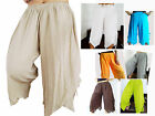 QUALITY COTTON HAREM PANTS / SHORTS - LAYERED FLOATY - GENIE