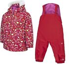 Trespass Waterproof Winter Baby SNOW SUIT Red Pink Girls Jacket Trousers Toddler