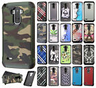 For LG G Stylo Rubber IMPACT TRI HYBRID Hard Case Skin Phone Cover Accessory