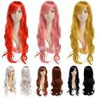 67.5cm Fashion Women Lady Long Wavy Curly Hair Anime Cosplay Party Full Wig Wigs
