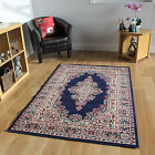 NEUF BLEU TAPIS TRADITIONNEL PETIT LARGE COURSE DESIGN MODERNE SALON PAS CHER