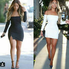 Strapless Dress Long Sleeve Off The Shoulder Bandage Dress Brief Club Dress UKEW
