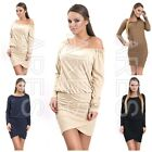 Ladies Dress One Size 8/10/12 Women's  Elasticated Neckline Long Sleeves  Top