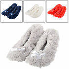 Adults Womens Darcey Ballet Styled Slippers With Warm Plush Outer and Inner New