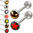 2Pcs tongue logo ball bar nipple barbell ring ear stud 9GAM-PICK STYLES&COLOUR