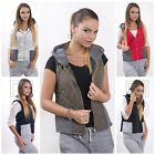 Ladies Vest Size 8/10/12 Women's Quilted Jacket Waistcoat with Pockets