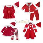 Baby Boy Girl Outfit Xmas Santa Claus Dress Romper Hat Cape Suit Clothes Costume