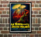 Earth vs. the Flying Saucers (Italian) - Vintage Sci-Fi Film/Movie Poster