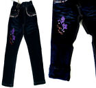 Winter Kinder Thermo Mädchen Thermohose Thermojeans Hose Jeans gefüttert Fleece