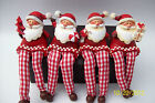 Nordic Santa Shelf Sitters 4 types listed, gingham dangly legs