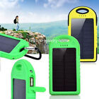 8000mAh Waterproof Solar Power Charger Bank Battery For Mobile Cell Phone 2 USB